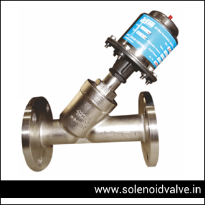 Pneumatic Y Type Valve Manufacturer, Supplier and Exporter in Ahmedabad, Gujarat, India