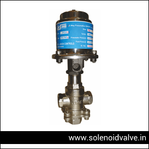 3 Way Pneumatics On-Off Controls Valve Mixing Manufacturers, Supplier and Exporter in Ahmedabad, Gujarat, India