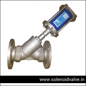 Pneumatic Y Type Control Valve Manufacturer, Supplier and Exporter in Andhra-Pradesh, Madhya-Pradesh, Uttar-Pradesh, Maharashtra, Kerala, Tamilnadu, Rajasthan